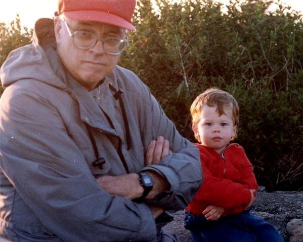 "My grandpa ""Mac"" and me, Oregon coast, 1991."