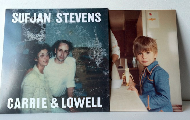 The album artwork for Sufjan Stevens' new album, 'Carrie & Lowell,' with a photo of young Sufjan visiting his mom and stepdad in Eugene, Oregon.